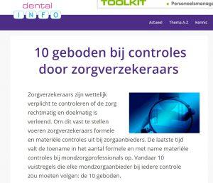 10 geboden materiele controle zorgverzekeraar wet bescherming persoonsgegevens