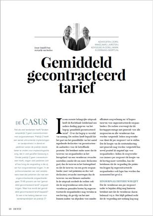 gemiddeld-gecontracteerd-tarief-mondzorg-ongecontracteerde zorgaanbieder-polisvoorwaarden-dentz-magazine